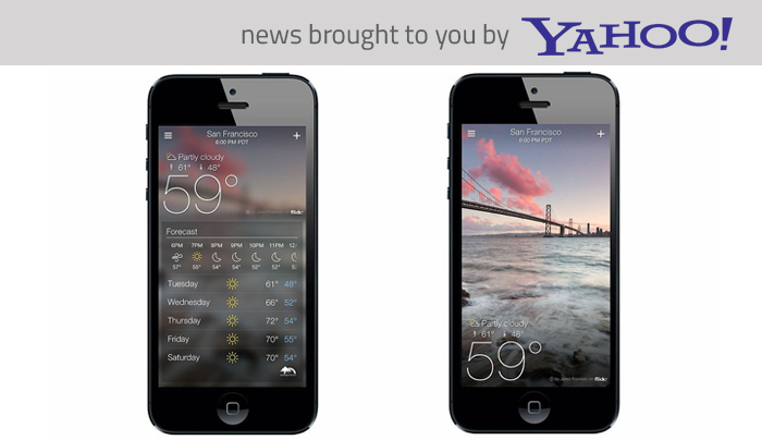 The new Yahoo! Weather app